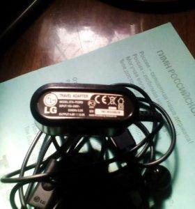 Зарядное и наушники на LG