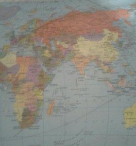 Карта мира для школы