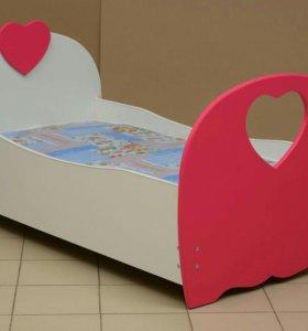 Кровать МДФ сердце