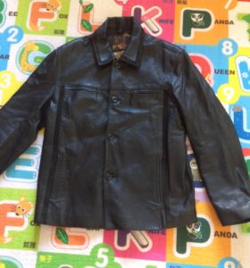 Кожаная куртка 50 размер чёрный цвет