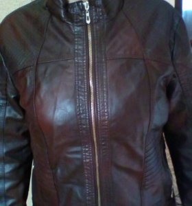 Куртка под кожу,новая