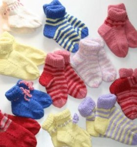 Вязаные шерстяные носки для грдничков и малышей