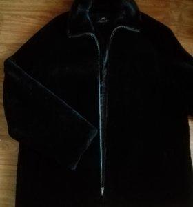 Куртка мутоновая с норковым воротником
