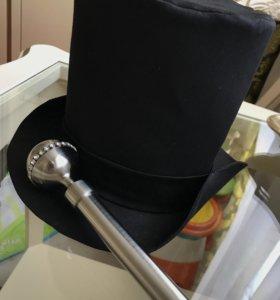 Цилиндр шляпа и трость для ребёнка