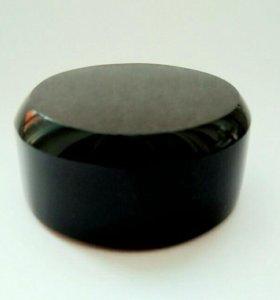 Обсидиан черный круглая подставка