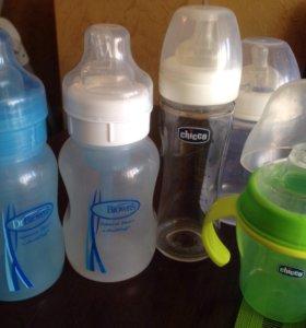 Бутылочки Dr. Browns, Chicco, поильник Chicco