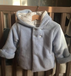 Плющевое пальто