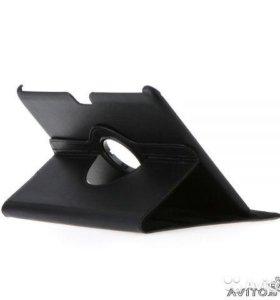 """Чехол для планшета самсунг 10"""" кожа черный"""