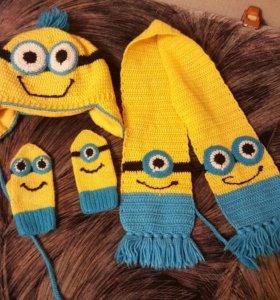 Шапка, шарф, перчатки