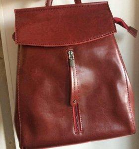 Новый рюкзак из натуральной кожи