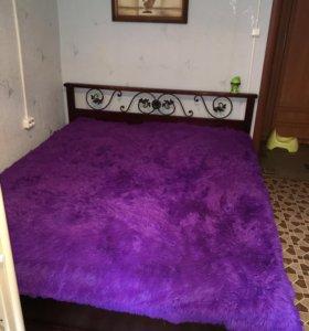 Двухспальная кровать + матрас