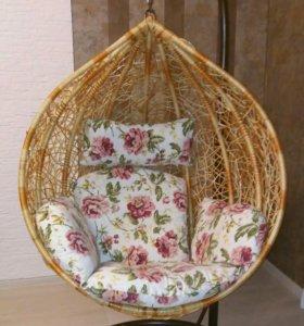 Кресло-качалка кокон. Ротанг. Новое.