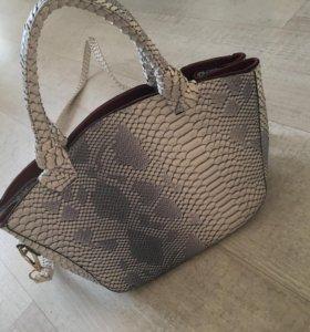 Новая сумка под кожу змеи