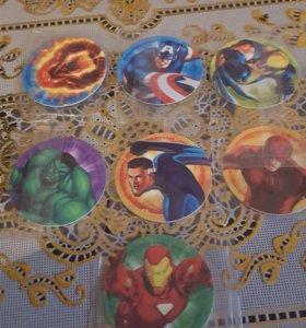 Пластиковые фишки MARVEL Heroes
