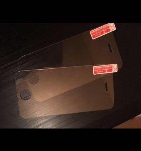 Защитное стекло на айфон 4, 4s