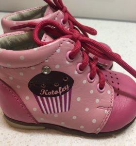 Ботинки для девочки 18 размер