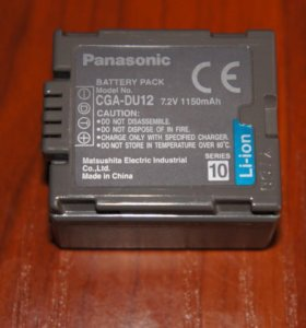Аккумулятор Panasonic CGA-DU12