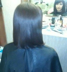 Кератиновое выпрямление (нанопластика ) волос