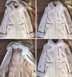 Зимняя куртка-шубка,дублёнка размер XS S 42-44