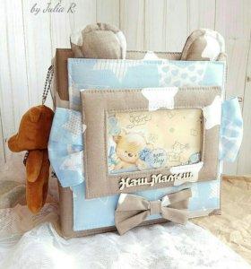 Скрапбукинг фотоальбом для новорожденного, для мал