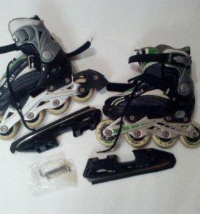Подростковые раздвижные коньки/ролики