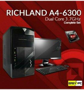 Новые производительные Компьютеры A4-6300+4GB+500G