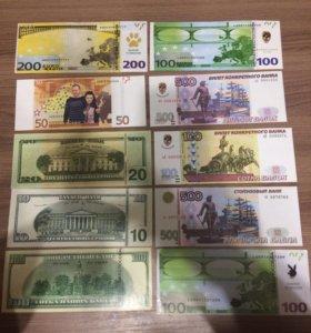 Бумажные детские деньги
