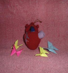 """вязаная игрушка """"сердце"""" ручная работа"""