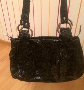 сумка. натуральная кожа и лак