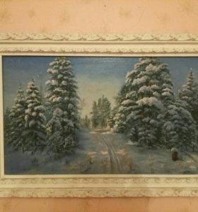 """Картина """"Зимний вечер"""""""
