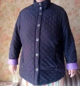 Куртка стеганая женская осень 52-54