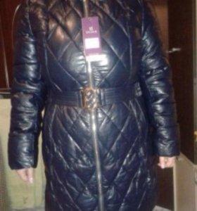 Новое пальто экокожа