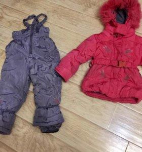 Детский тёплый комбинезон с курткой