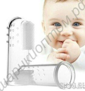 Силиконовая зубная щётка-напальчник для малышей