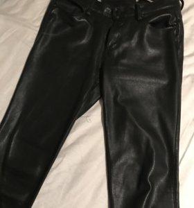 Классические кожаные штаны Zara
