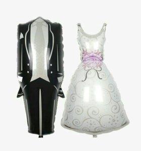 Надувные свадебные шары
