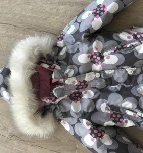 Reima зимняя куртка+штаны (полукомбинезон) р.86-92