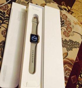 "Apple Watch Series 2,38 mm, "" серый камень"""