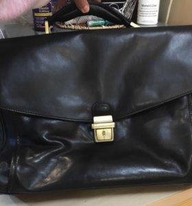 Портфель кожаный мужской Grard Henon, чёрный