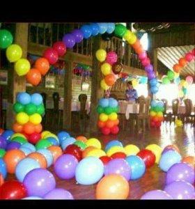 Гелевые шары и фигуры из шаров