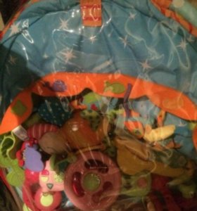 Коврик детский, руль для коляски игрушка