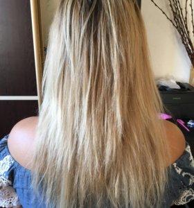 Ботокс,кератиновое выравнивание и полировка волос