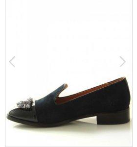 Туфли из натуральной замши и кожи