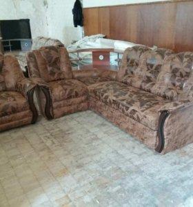 """1045 диван угловой """"Аделина"""" с баром и креслом"""