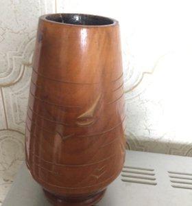 Деревянная вазочка ссср