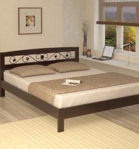 Кровать Жожетта Ковка, массив сосны, берёзы, бука