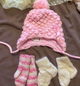 Шапка рукавицы носочки