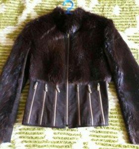 Куртка зимняя мех, полушубок нутрия