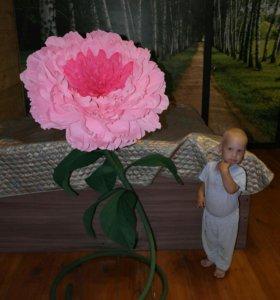 Ростовые цветы из гофрированной бумаги