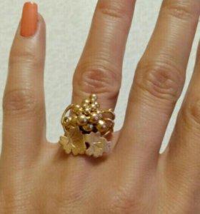 Кольцо золотое 585 проба, женское.
